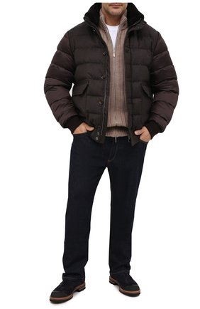Мужской шерстяной кардиган CRUCIANI бежевого цвета, арт. CU26.232/60-68   Фото 2 (Рукава: Длинные; Материал внешний: Шерсть; Big sizes: Big Sizes; Стили: Кэжуэл)