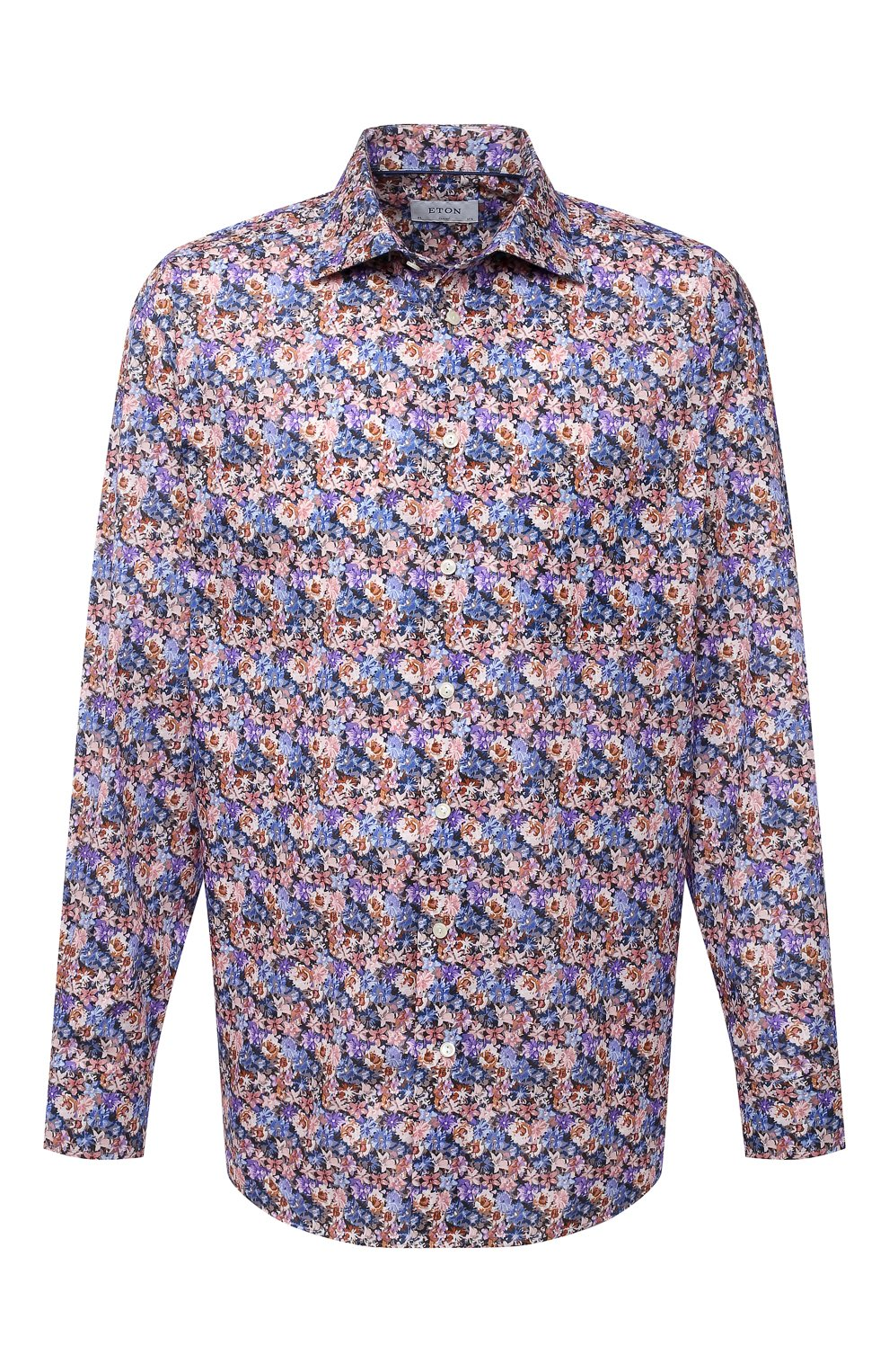 Мужская хлопковая рубашка ETON синего цвета, арт. 1000 01750   Фото 1