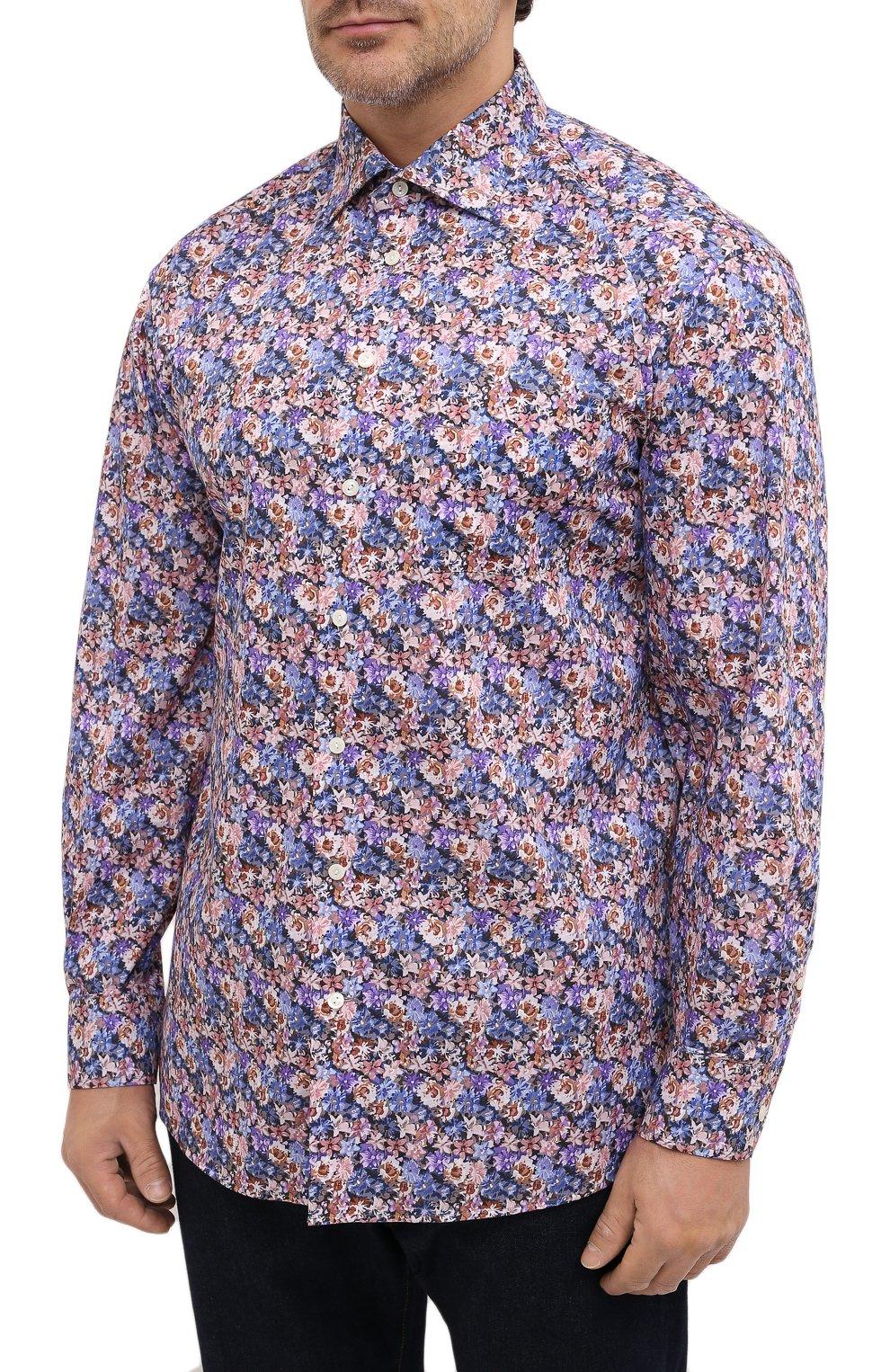 Мужская хлопковая рубашка ETON синего цвета, арт. 1000 01750   Фото 3