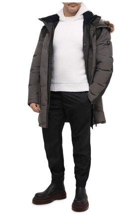 Мужская пуховик PAUL&SHARK серого цвета, арт. I20P2332/H88/3XL-6XL | Фото 2