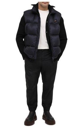 Мужской пуховый жилет PAUL&SHARK темно-синего цвета, арт. I20P2339/HWU/3XL-6XL | Фото 2