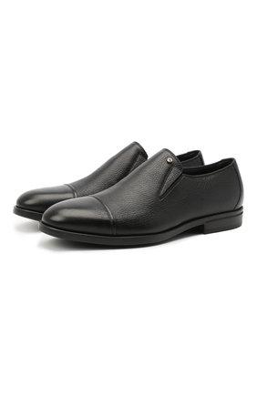 Мужские кожаные лоферы ALDO BRUE черного цвета, арт. AB4037.CM.L.BU | Фото 1