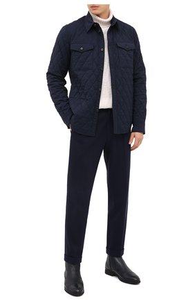 Мужские кожаные сапоги ALDO BRUE темно-синего цвета, арт. AB8621K-NCM.A.A99T | Фото 2