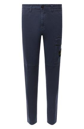 Мужской хлопковые брюки STONE ISLAND темно-синего цвета, арт. 7315312L1 | Фото 1