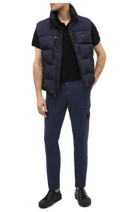 Мужской хлопковые брюки STONE ISLAND темно-синего цвета, арт. 7315312L1 | Фото 2