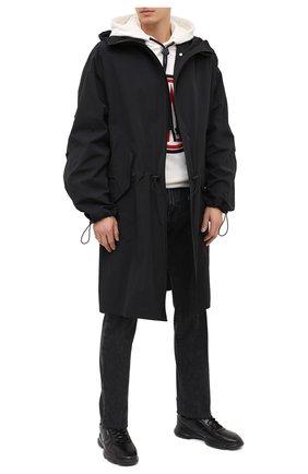 Мужские кожаные кроссовки BOSS черного цвета, арт. 50440669   Фото 2