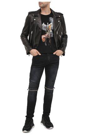 Мужские джинсы AMIRI черного цвета, арт. W0M01517SD | Фото 2