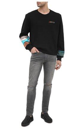 Мужской хлопковый свитшот AMIRI черного цвета, арт. W0M02535TE | Фото 2