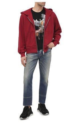 Мужская хлопковая толстовка AMIRI красного цвета, арт. W0M02722TE | Фото 2