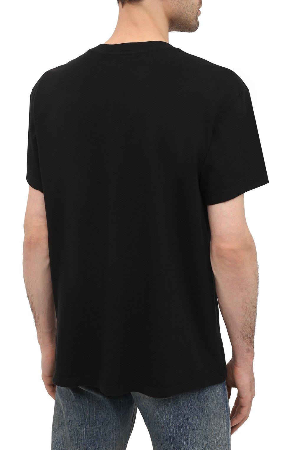 Мужская хлопковая футболка AMIRI черного цвета, арт. W0M03556CJ   Фото 4