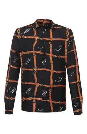 Мужская шелковая рубашка AMIRI разноцветного цвета, арт. W0M04372SE | Фото 1 (Материал внешний: Шелк; Рукава: Длинные; Длина (для топов): Стандартные; Случай: Повседневный)