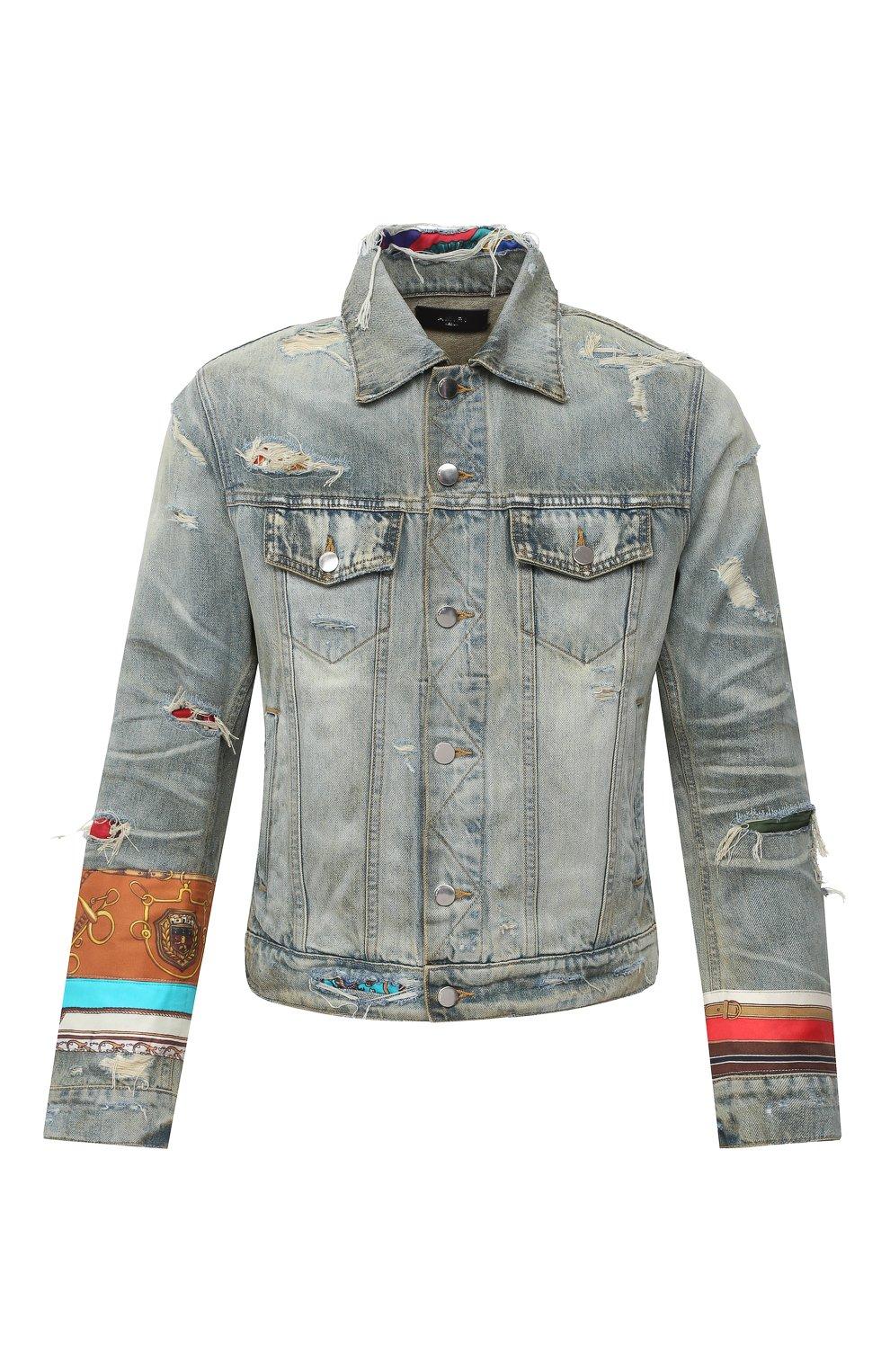 Мужская джинсовая куртка AMIRI синего цвета, арт. W0M04603RD | Фото 1