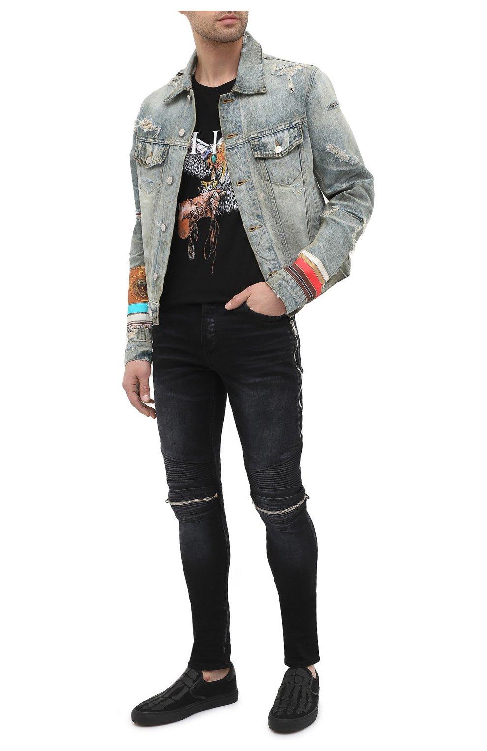 Мужская джинсовая куртка AMIRI синего цвета, арт. W0M04603RD | Фото 2