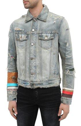 Мужская джинсовая куртка AMIRI синего цвета, арт. W0M04603RD | Фото 3
