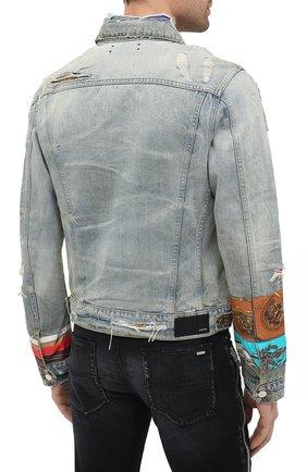 Мужская джинсовая куртка AMIRI синего цвета, арт. W0M04603RD | Фото 4