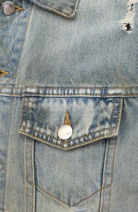 Мужская джинсовая куртка AMIRI синего цвета, арт. W0M04603RD | Фото 5