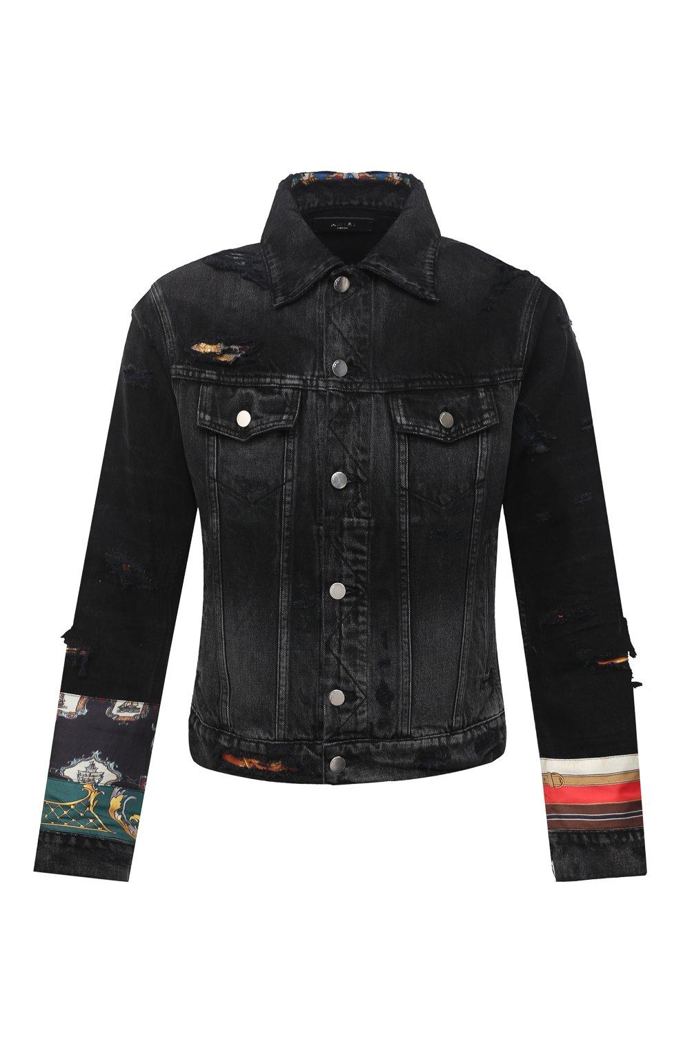 Мужская джинсовая куртка AMIRI черного цвета, арт. W0M04603RD | Фото 1