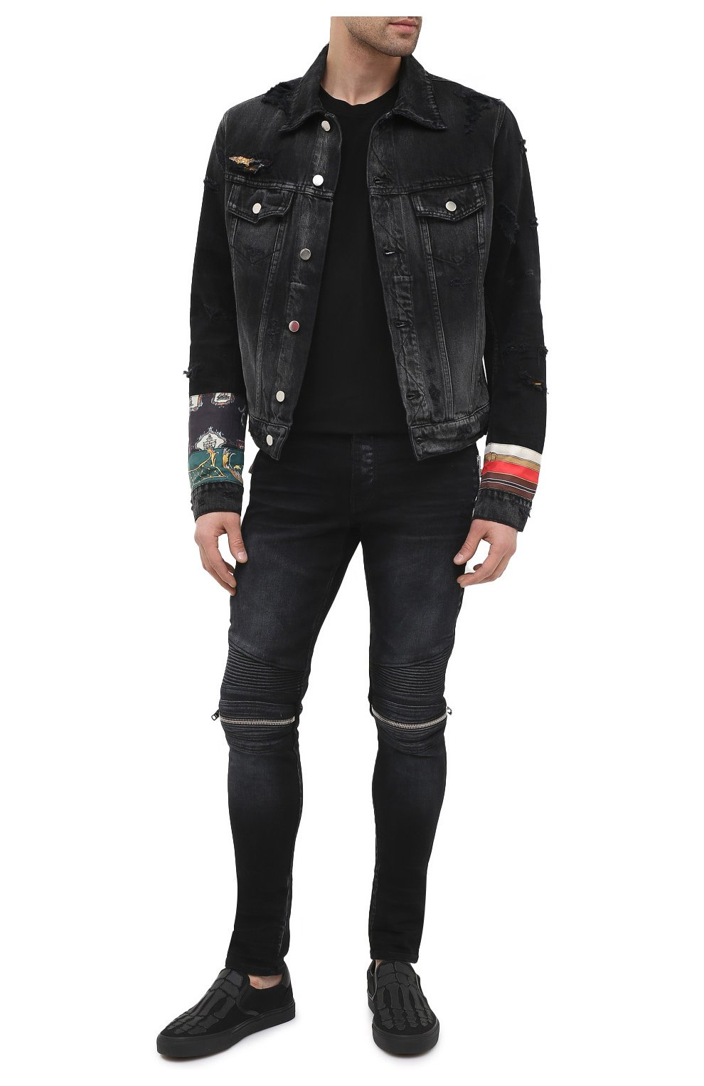 Мужская джинсовая куртка AMIRI черного цвета, арт. W0M04603RD | Фото 2