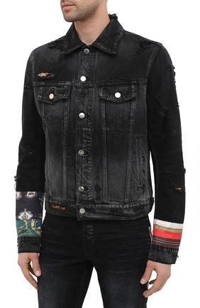 Мужская джинсовая куртка AMIRI черного цвета, арт. W0M04603RD | Фото 3