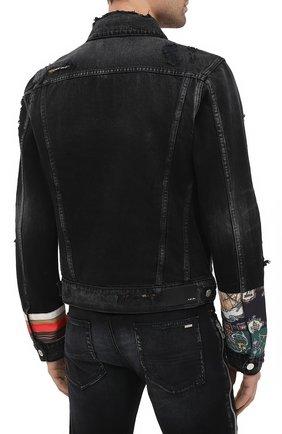 Мужская джинсовая куртка AMIRI черного цвета, арт. W0M04603RD | Фото 4