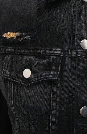 Мужская джинсовая куртка AMIRI черного цвета, арт. W0M04603RD | Фото 5