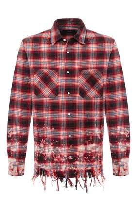 Мужская хлопковая рубашка AMIRI красного цвета, арт. W0M04610PD | Фото 1