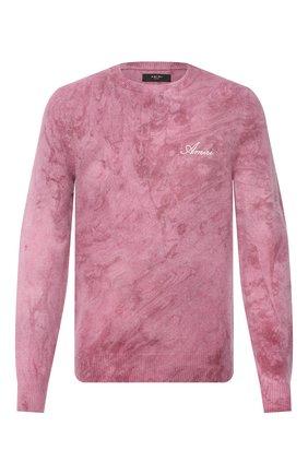 Мужской свитер из кашемира и шерсти AMIRI розового цвета, арт. W0M05568CN   Фото 1