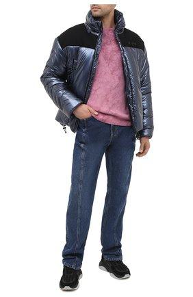 Мужской свитер из кашемира и шерсти AMIRI розового цвета, арт. W0M05568CN   Фото 2