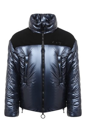 Мужская утепленная куртка OFF-WHITE темно-синего цвета, арт. 0MED026F20FAB0014600 | Фото 1