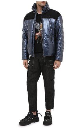 Мужская утепленная куртка OFF-WHITE темно-синего цвета, арт. 0MED026F20FAB0014600 | Фото 2