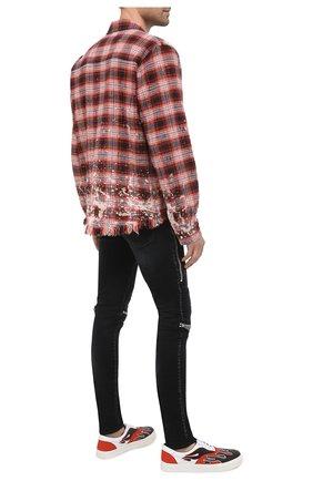 Мужские текстильные кеды AMIRI разноцветного цвета, арт. W0F22501CL | Фото 2 (Материал внутренний: Натуральная кожа; Материал внешний: Текстиль; Подошва: Массивная)