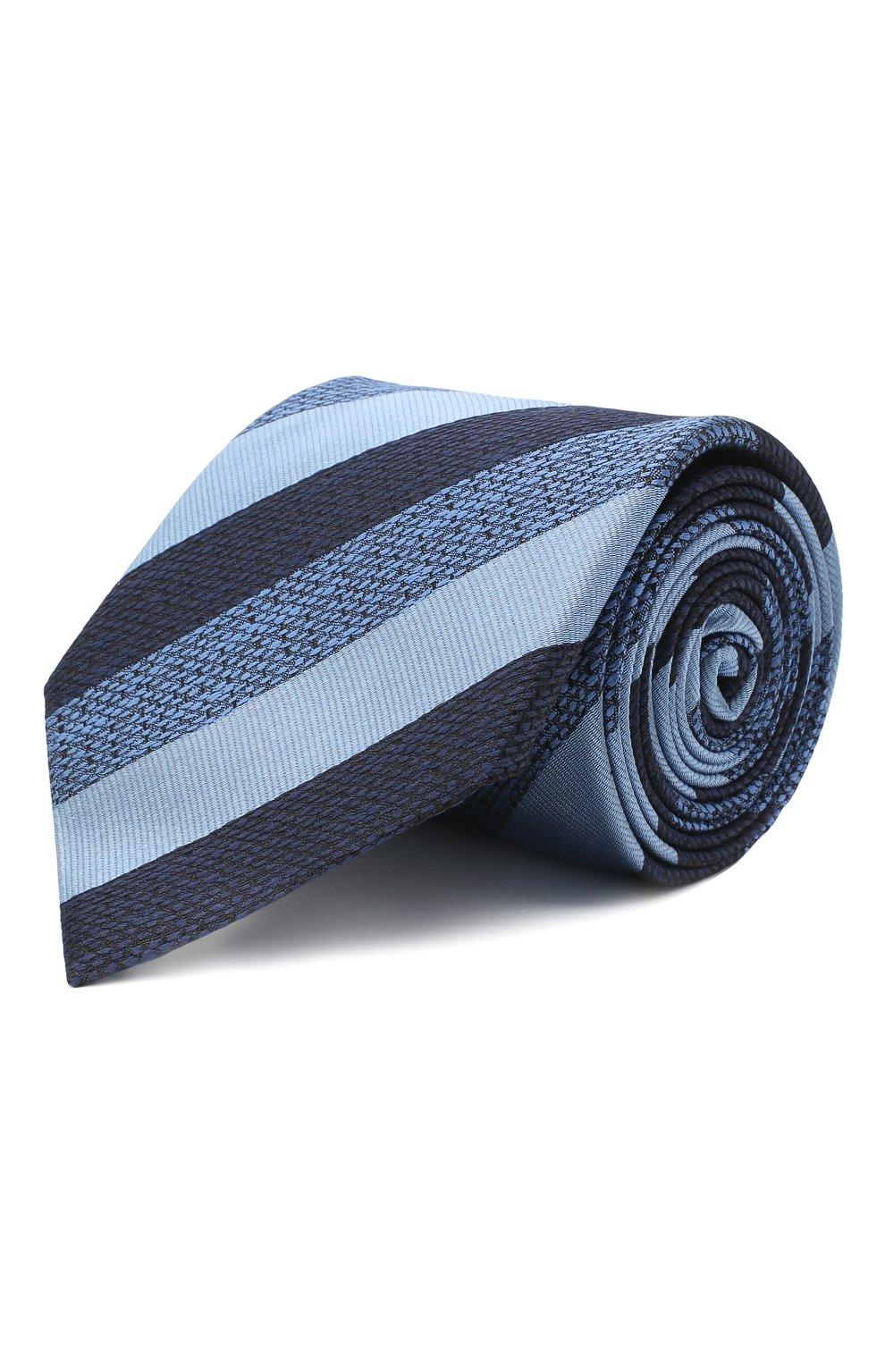 Мужской шелковый галстук ERMENEGILDO ZEGNA голубого цвета, арт. Z8E45/1UM | Фото 1