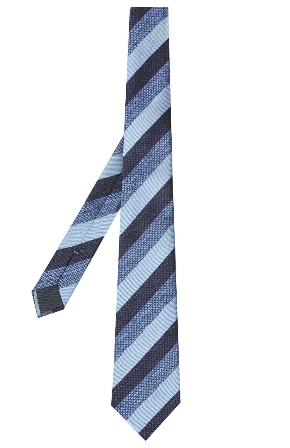 Мужской шелковый галстук ERMENEGILDO ZEGNA голубого цвета, арт. Z8E45/1UM | Фото 2