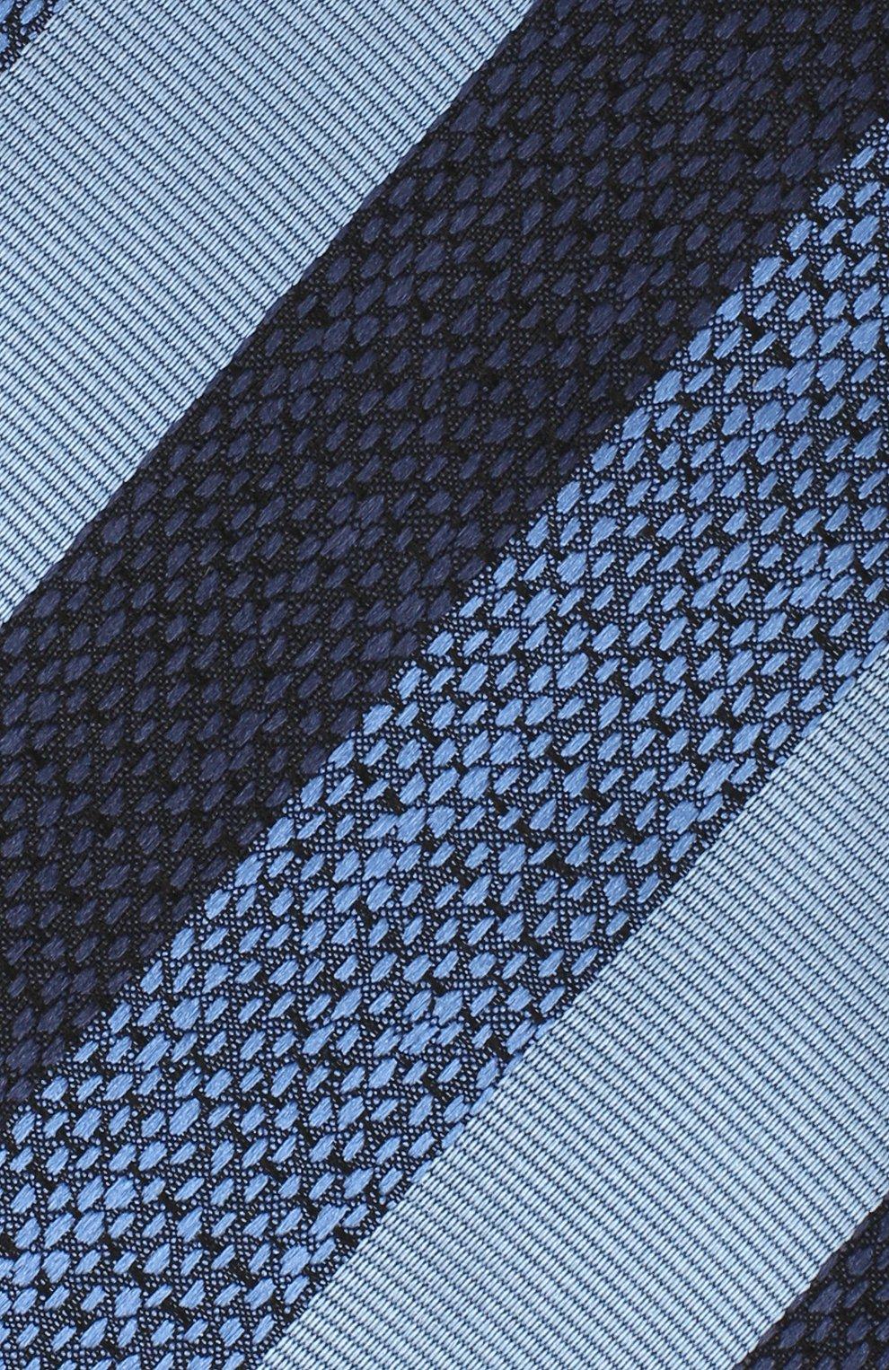 Мужской шелковый галстук ERMENEGILDO ZEGNA голубого цвета, арт. Z8E45/1UM | Фото 3