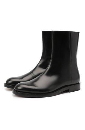 Мужские кожаные сапоги VETEMENTS черного цвета, арт. MAH21B0235 2455 | Фото 1