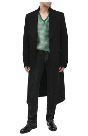 Мужские кожаные сапоги VETEMENTS черного цвета, арт. MAH21B0235 2455 | Фото 2