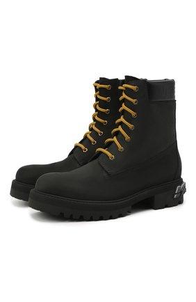 Мужские кожаные ботинки VETEMENTS черного цвета, арт. UAH21B0240 2453/M | Фото 1
