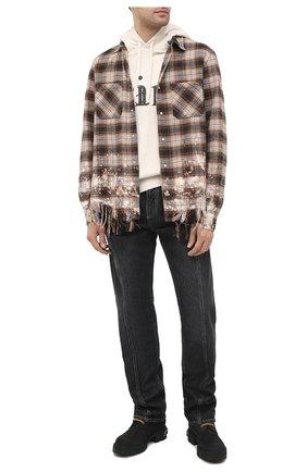 Мужские кожаные ботинки VETEMENTS черного цвета, арт. UAH21B0240 2453/M | Фото 2