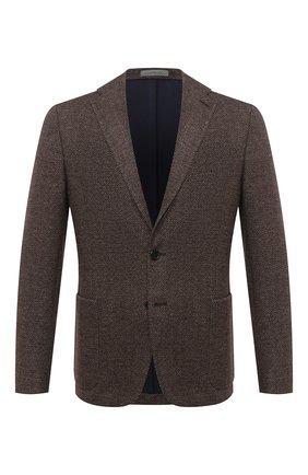 Мужской пиджак из хлопка и шерсти CORNELIANI коричневого цвета, арт. 86X213-0816810/90 | Фото 1