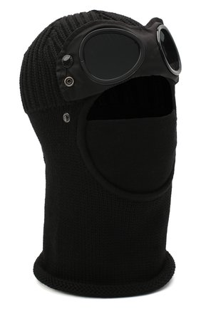 Мужская шерстяная шапка-балаклава C.P. COMPANY черного цвета, арт. 09CMAC238A-005509A | Фото 1