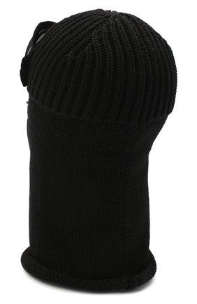 Мужская шерстяная шапка-балаклава C.P. COMPANY черного цвета, арт. 09CMAC238A-005509A | Фото 2