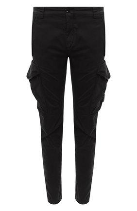 Мужской хлопковые брюки-карго C.P. COMPANY черного цвета, арт. 09CMPA132A-005529G | Фото 1
