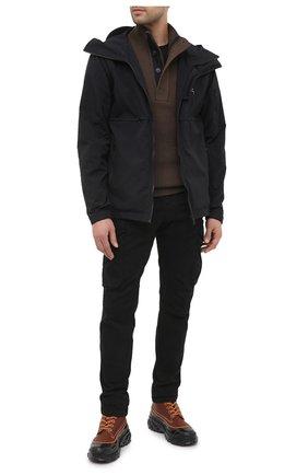 Мужской хлопковые брюки-карго C.P. COMPANY черного цвета, арт. 09CMPA132A-005529G | Фото 2