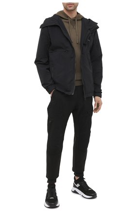 Мужской хлопковые джоггеры C.P. COMPANY черного цвета, арт. 09CMSP317A-005869M | Фото 2