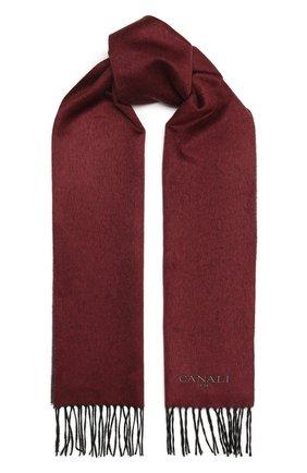 Мужской шарф из шелка и кашемира CANALI бордового цвета, арт. 06/TX00179 | Фото 1