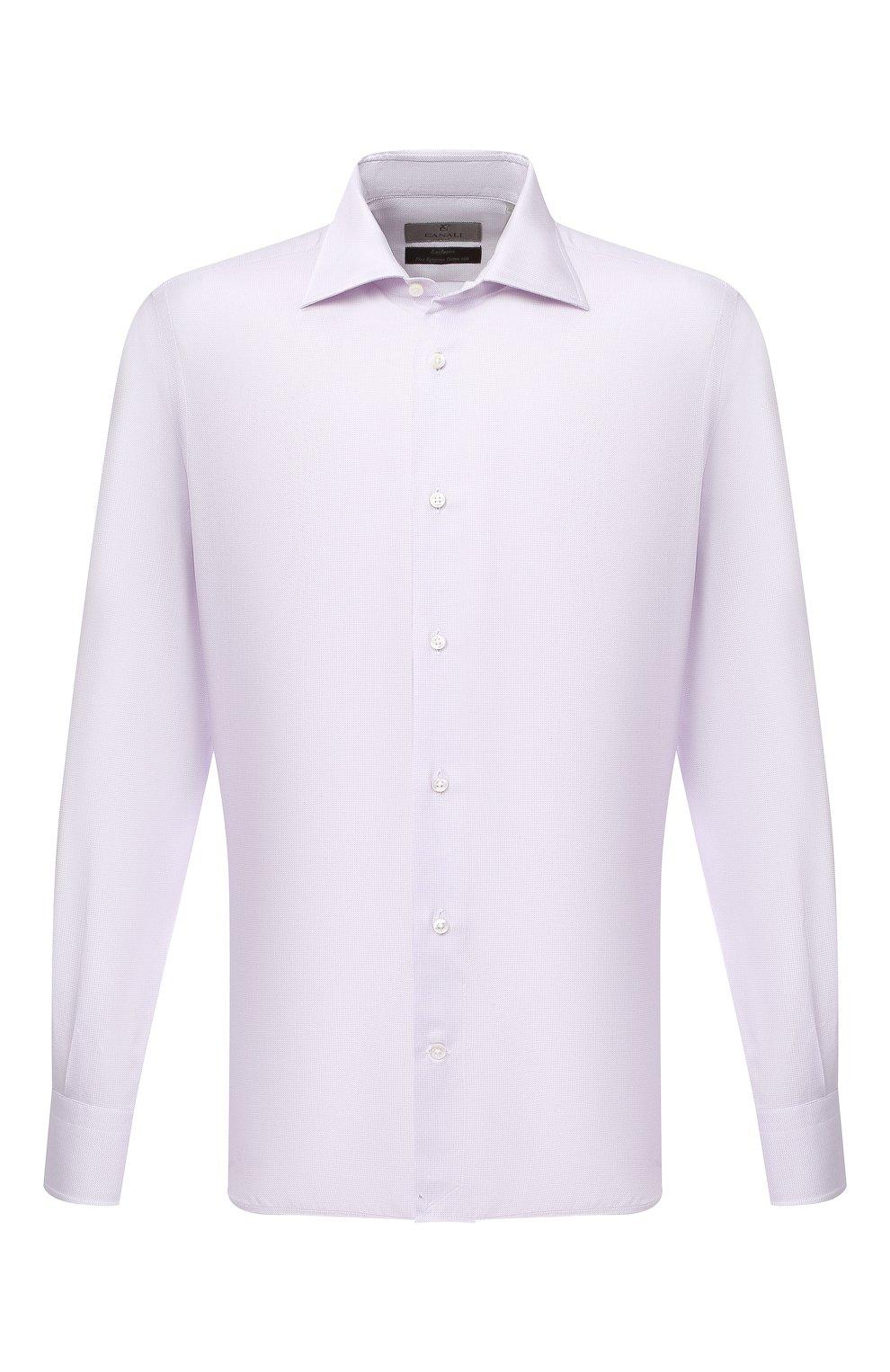 Мужская сорочка из хлопка и шелка CANALI светло-розового цвета, арт. XX18/GX02036 | Фото 1