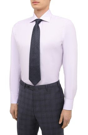 Мужская сорочка из хлопка и шелка CANALI светло-розового цвета, арт. XX18/GX02036 | Фото 4