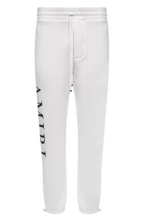 Мужской хлопковые джоггеры AMIRI белого цвета, арт. F0M09152TE | Фото 1