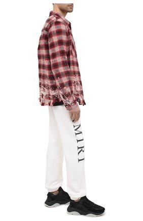 Мужской хлопковые джоггеры AMIRI белого цвета, арт. F0M09152TE | Фото 2