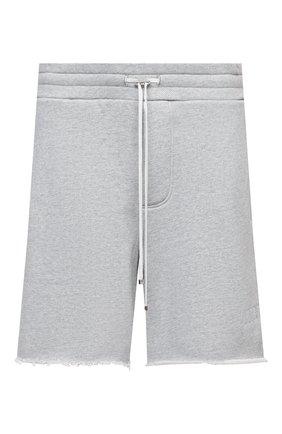 Мужские хлопковые шорты AMIRI серого цвета, арт. F0M11192TE | Фото 1
